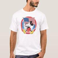 Holiday Mickey | Flag with Circle T-Shirt