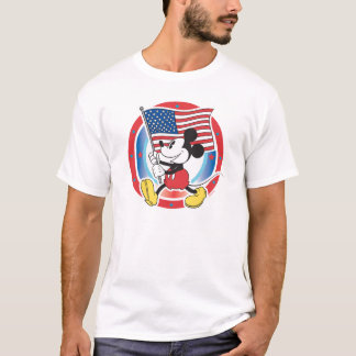 Holiday Mickey | Flag with Circle T-Shirt