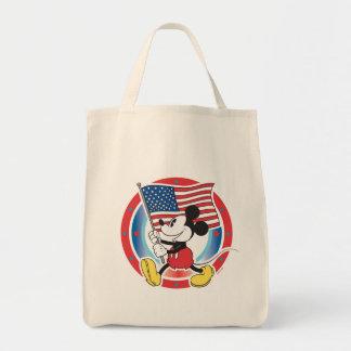 Holiday Mickey | Flag with Circle Tote Bag