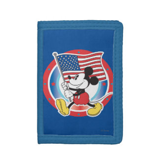 Holiday Mickey | Flag with Circle Tri-fold Wallet