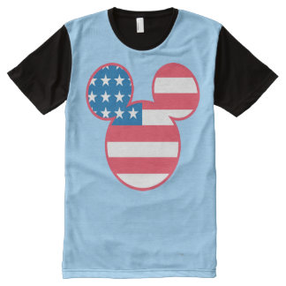 Holiday Mickey | Mouse Head Flag Icon All-Over Print Shirt