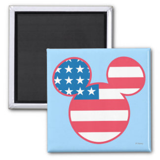 Holiday Mickey | Mouse Head Flag Icon Magnet