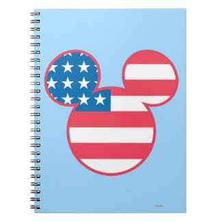 Holiday Mickey | Mouse Head Flag Icon Notebook