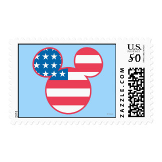 Holiday Mickey | Mouse Head Flag Icon Postage