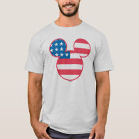 Holiday Mickey | Mouse Head Flag Icon T-Shirt