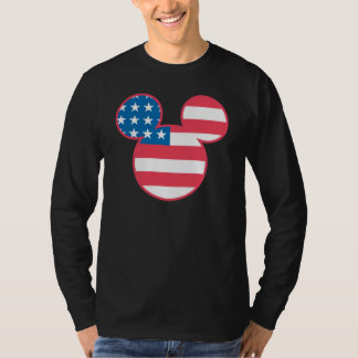 Holiday Mickey | Mouse Head Flag Icon T Shirt