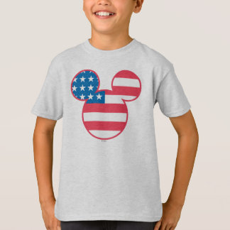 Holiday Mickey   Mouse Head Flag Icon T-Shirt