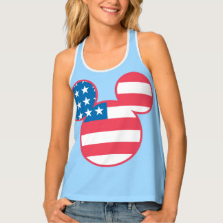 Holiday Mickey | Mouse Head Flag Icon Tank Top