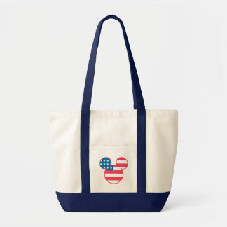 Holiday Mickey | Mouse Head Flag Icon Tote Bag