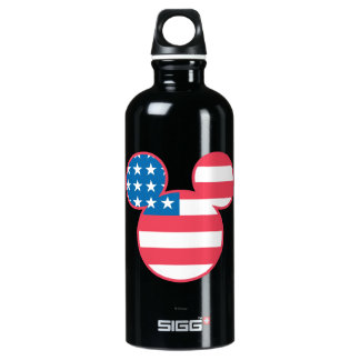 Holiday Mickey | Mouse Head Flag Icon Water Bottle