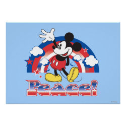 Holiday Mickey | Patriotic Peace Rainbow Poster
