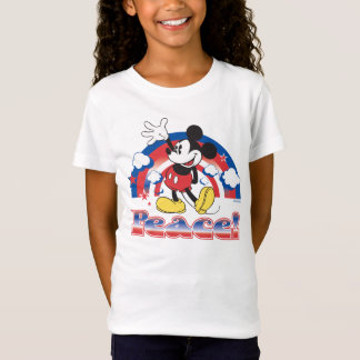 Holiday Mickey | Patriotic Peace Rainbow T-Shirt