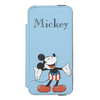 Holiday Mickey | Patriotic Singing iPhone SE/5/5s Wallet Case