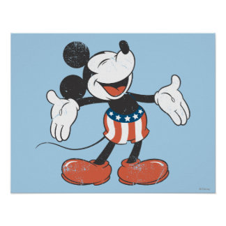 Holiday Mickey | Patriotic Singing Poster