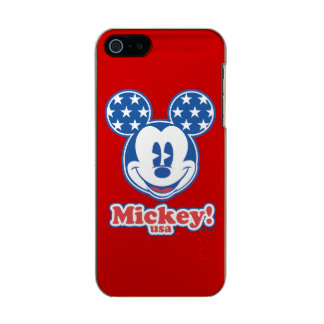 Holiday Mickey | Patriotic Stars Metallic Phone Case For iPhone SE/5/5s