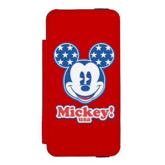 Holiday Mickey | Patriotic Stars Wallet Case For iPhone SE/5/5s