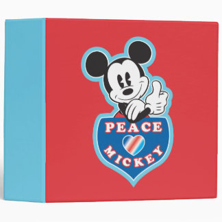 Holiday Mickey | Peace Love 3 Ring Binder
