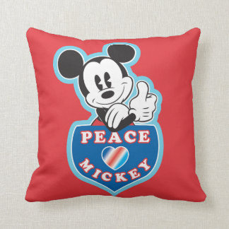 Holiday Mickey | Peace Love Throw Pillow