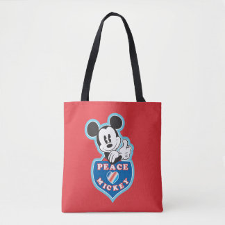 Holiday Mickey | Peace Love Tote Bag