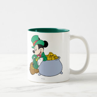 Holiday Mickey | Pot of Gold Two-Tone Coffee Mug
