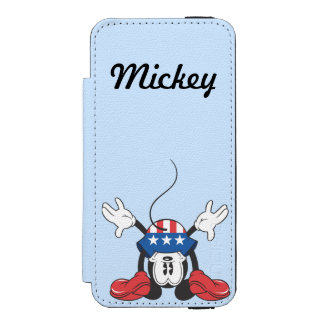 Holiday Mickey | Upside Down Wallet Case For iPhone SE/5/5s