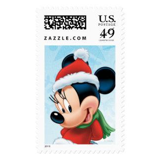 Holiday Minnie Postage Stamp