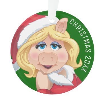 Disney Themed Holiday Miss Piggy 2 Ornament