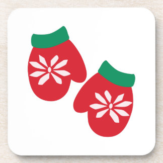 Holiday Mittens Beverage Coaster