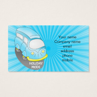 Holiday Mode Blue Van Business Card
