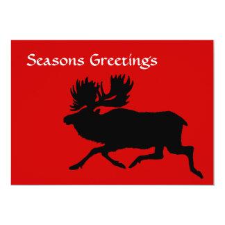 "Holiday Moose 5"" X 7"" Invitation Card"