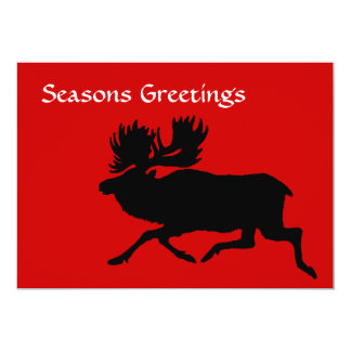 Holiday Moose 5x7 Paper Invitation Card