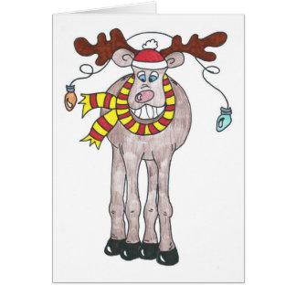 Holiday Moose Card