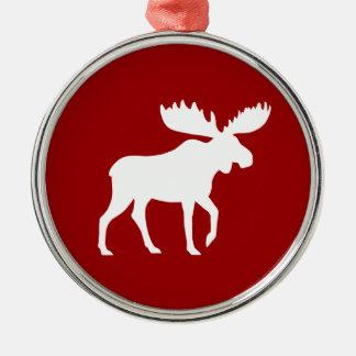 Holiday Moose Metal Ornament