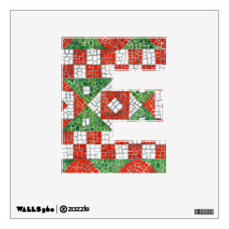"""Holiday Mosaic Letter """"E""""  Wall Decal"""