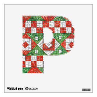 """Holiday Mosaic Letter """"P""""  Wall Decal"""