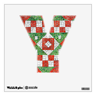 """Holiday Mosaic Letter """"Y""""  Wall Decal"""
