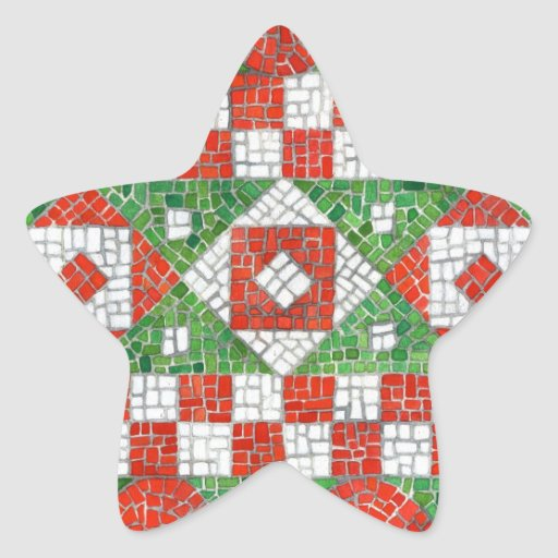 Holiday Mosaic Star Stickers