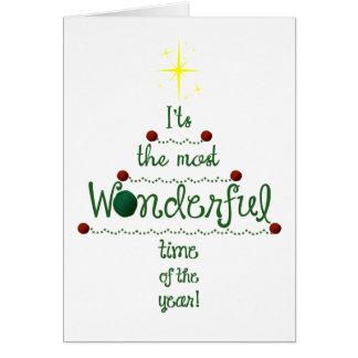 Holiday Most Wonderful Time of Year •Yarn & Crafts Card