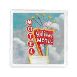 Holiday Motel Sign Acrylic Tray