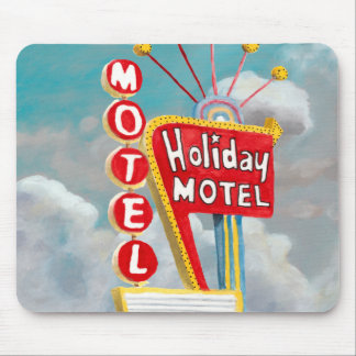 Holiday Motel Sign Mouse Pad