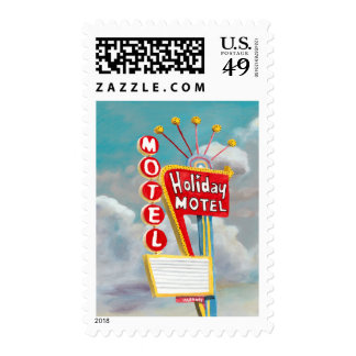 Holiday Motel Sign Postage