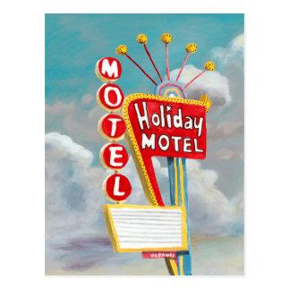 Holiday Motel Sign Postcard