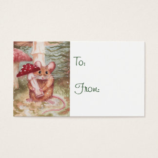 Holiday Mouse and Mushroom Gift Tags