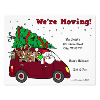 Holiday Moving Announcement - 4 25x5 5 cards
