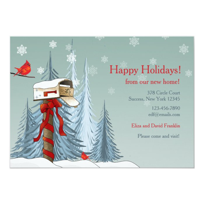 Holiday Moving Announcement Card | Zazzle