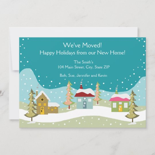 holiday moving announcement cards zazzle com