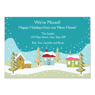 Holiday Moving Announcement Cards