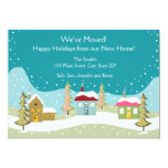 """Holiday Moving Announcement Cards 5"""" X 7"""" Invitation Card"""