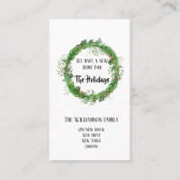 Holiday | Moving Announcement Insert Cards