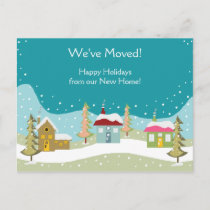 Holiday Moving Announcement postcards
